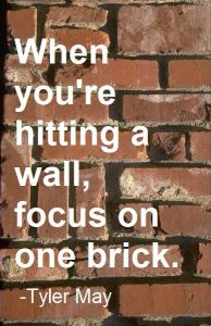 focus on one brick