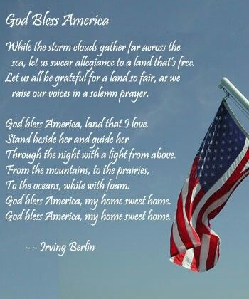 God Bless America - Irving Berlin